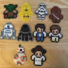 Star Wars perler beads by mammaoftwins Perler Bead Designs, Hama Beads Design, Diy Perler Beads, Perler Bead Art, Pearler Beads, Melty Bead Patterns, Pearler Bead Patterns, Perler Patterns, Beading Patterns