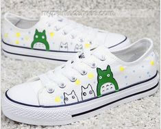 #totoro shoes custom totoro shoes painted totoro on Low-top Paint