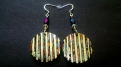 Upcycled Go With Everything Multicolored Earrings made from popcans & clay by Jewellori, $15.00