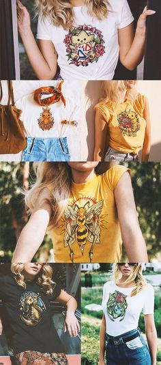 Female Pokemon T-Shirts Fashion | Available at www.printpoke.com | #beedrill…