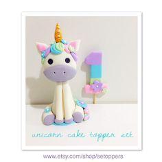 Unicorn cake topper girly pink and purple cake decorating