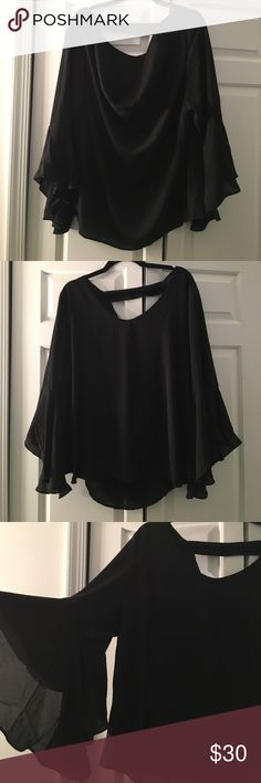 🔥DIPPED BACK BELL SLEEVE BEAUTY🔥 18/20 More on 18 side fit wise. Not a crop but not super long Ashley Stewart Tops Blouses
