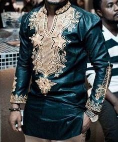 Items similar to African men's clothes, African shirt, Dashiki shirt,African clothing,Wedding suit on Etsy Dashiki Shirt, African Attire, African Wear, African Style, African Men Fashion, Mens Fashion, Mens Vintage Shirts, African Shirts, African Dashiki