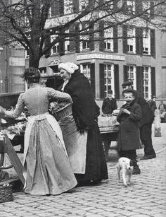 Markt op straat 1900