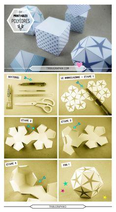 DIY : révision de nos souvenirs scolaires sur les polyèdres, nous construisons ici un DODÉCAÈDRE.