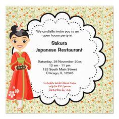 Custom pregrand opening restaurant invites grand opening japanese grand opening restaurant card stopboris Image collections