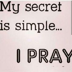 Praying does it