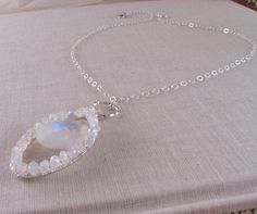 Gorgeous moonstone necklace $62.00 #gift #brigteam