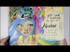 Samie Harding Strathmore Art Journal Flip - YouTube