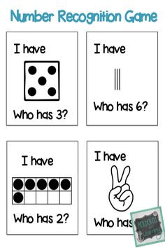 I Have... Who Has? Number recognition game! Great for whole class or small group instruction.