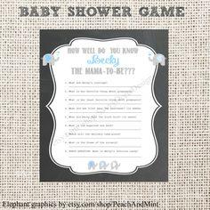 Chalkboard Baby Shower Game Printable by SavvyDeetsDesigns