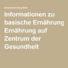 Informationen zu basische Ernährung auf Zentrum der Gesundheit