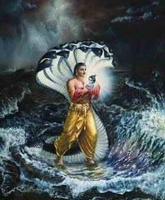 """A divine message came to Vasudev soon after the birth of Lord Krishna, """"Take this child across the Yamuna River to Gokul and exchange him with Yashoda's daughter. You will return to the prison before anyone comes to know about the birth of this child.""""  Vasudev immediately followed the advice."""