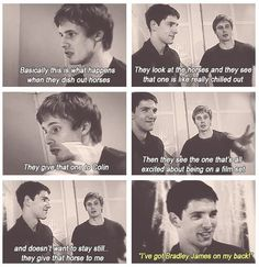 Bradley and Colin || Colin's smirk face in the 4th panel. Perfect.