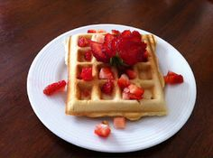 Waffles - Dairy free, Soy free, Egg free, Nut free (Perfect recipe - except I usually double it & add cinnamon & vanilla)