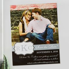 Create lasting Wedding memories with the Personalized Photo Save The Date Magnets - Monogram. Find the best personalized wedding gifts at PersonalizationMall.com