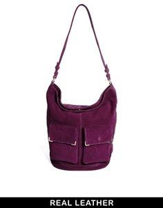 ASOS Leather Hobo Bag With Metal Corner Fitting