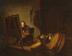 Artist: Pieter van den Bosch (Dutch, 1613–1663) Title: AN ARTIST IN HIS STUDIO