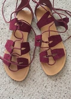 Tie up trendy sandals