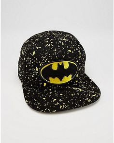 42d210122fc Splatter Batman Snapback Hat - Spencer s