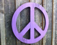 Purple~ Peace Sign