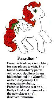 My Little Pony Fact File: Paradise