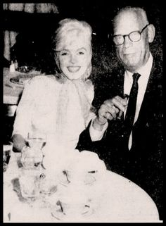 Marilyn Monroe with Arthur Miller's father Isadore Miller at the Fontainebleau Hotel [February 18, 1962].