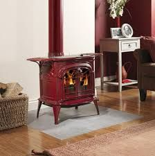 Image result for vermont castings red enamel wood stove