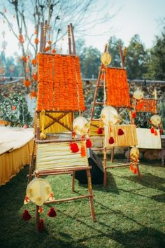 Looking for Decorated wooden ladder in decor? Browse of latest bridal photos, lehenga & jewelry designs, decor ideas, etc. on WedMeGood Gallery.