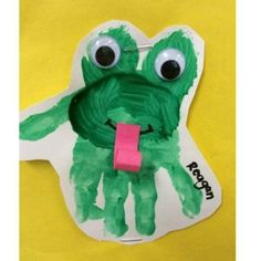 handprint frog craft  |   Crafts and Worksheets for Preschool,Toddler and Kindergarten