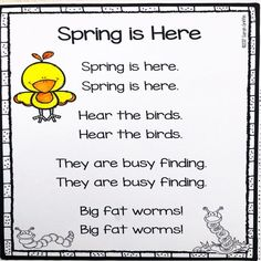 It's time to bring in fresh and fun lessons with these Spring poems for kids. #poemsforkids