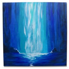 Oxum by MelGama on Etsy Blank Canvas, Custom Paint, Unique Art, Moonlight, Waterfall, My Arts, Display, Traditional, Artist