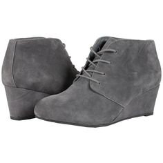 adaed1687b3c VIONIC Elevated Becca Wedge Lace-Up (Grey) Women s Wedge Shoes ( 160) ❤  liked on Polyvore featuring shoes
