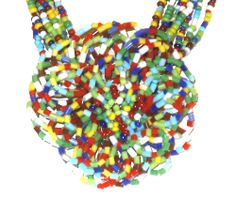 Multi Color Glass Seed Bead Multi Strand Flower Necklace 28 in and Earrings http://stores.ebay.com/JEWELRY-AND-GIFTS-BY-ALICE-AND-ANN