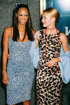 Tyra Banks & Cameron Diaz, 1998On some level, don't you just feel that Banks has butterfly clips in her hair? #refinery29 http://www.refinery29.com/2015/08/92489/90s-red-carpet-celebrity-pictures#slide-18