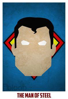 Superman (minimalist superhero)   By: Andres Romero, Via Visual News