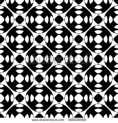Vector seamless pattern, abstract black & white repeat texture. Simple geometric figures, perforated circles, wheels. Endless monochrome background. Design for tileable print, decor, textile, fabric