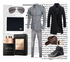"""""""Bez naslova #19"""" by amin75 ❤ liked on Polyvore featuring Pierre Balmain, Carhartt, Yves Saint Laurent, Lacoste, men's fashion and menswear"""