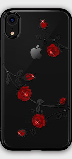 862e4dcd8a09 Clear Case with Bling Rhinestones Rose/Floral/Butterfly/Plum Blossom Design  for iPhone XS Max/XS/XR/X