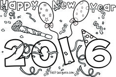 Printable Happy New Year 2016 Coloring Pages For Kidsfree Online Print Out Kidsnew Activities Worksheets
