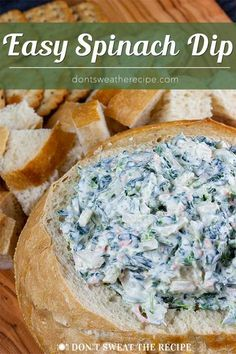 Easy Spinach Dip Easy Spinach Dip – A cold, creamy, flavorful spinach dip to wow your friends and family! From scratch, no dry soup mix here. Cold Appetizers, Appetizer Dips, Appetizer Recipes, Easy Healthy Appetizers, Spinach Appetizers, Italian Appetizers Easy, Snack Recipes, Low Carb Low Calorie, Healthy Spinach Dip