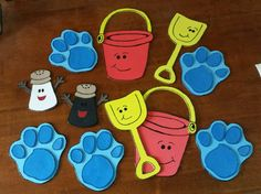 Blues Clues decorations made from craft foam