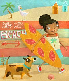 Surfer+girl Beachy+summer+by+JaneySuperette