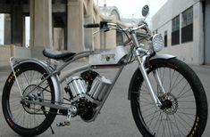 """Elektro-Fahrrad Juice 3kW: Die Elektro-Komponenten werden bei diesem neuen E-Bike nicht versteckt, sondern sind Bestandteil des Designs. Schöpfer David Twomey nennt das """"ehrliches Design""""."""