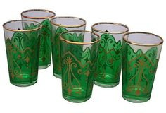 Moroccan Tea Glasses S/6 on Chairish.com