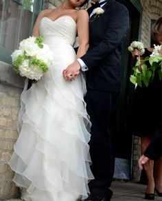 Organza Wedding Dress with Tiered Skirt   by bridalblissdesigns, $769.00