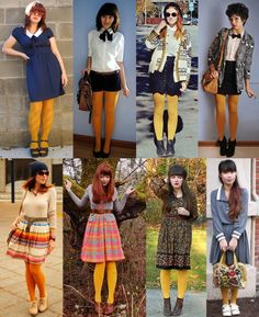 Mustard yellow tights