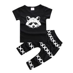 Raccoon set Baby Outfit