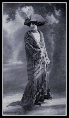 1912 Fringe Coat and Feather Hat