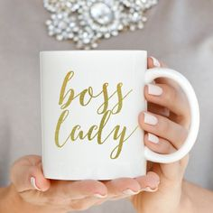 Hey, I found this really awesome Etsy listing at https://www.etsy.com/listing/255354581/gold-boss-lady-coffee-mug-coffee-mugs